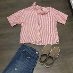 LL bean striped boyfriend style t shirt